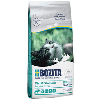 BOZITA DIET & STOMACH GRAIN FREE ELK