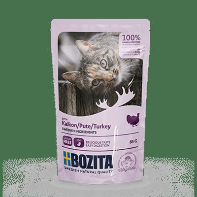 Bozita kjøttbiter i saus med kalkun 85g 12pk