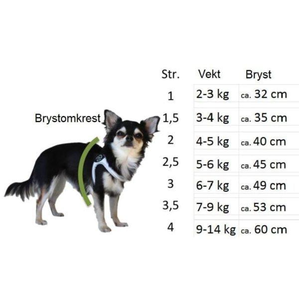 tre ponti hundesele størrelse