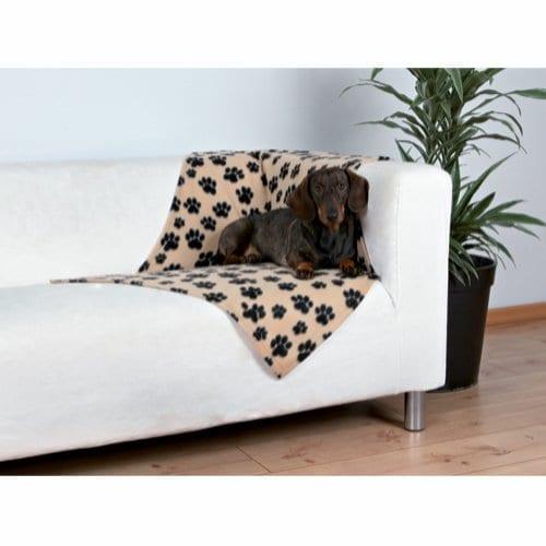 Trixie Beaney Fleeceteppe til Hund Beige 100 x 70 cm