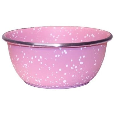 rustfri stålskål rosa granitt