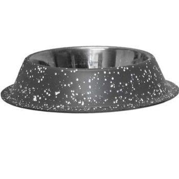rustfri stålskål grå granitt antiskli
