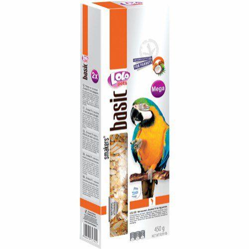 Lolo frøstang med nøtter/kokos 2pk papegøye
