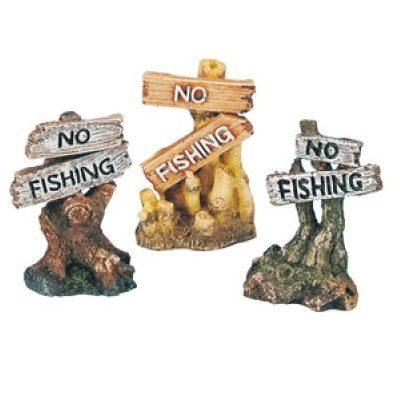 No fishing skilt