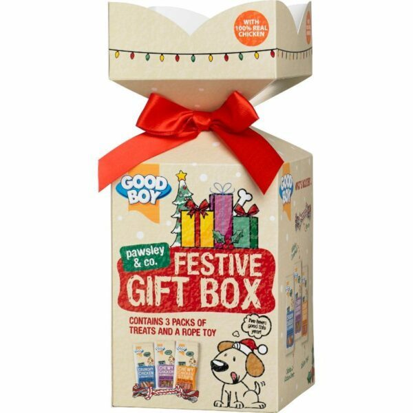Good Boy Festive Real Meat Giftbox 11x11x27cm
