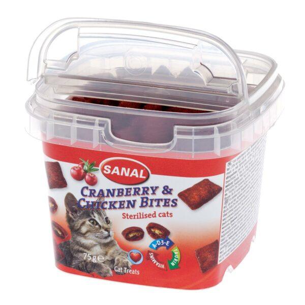 Sanal Cranberry & chicken Bites katt 75g