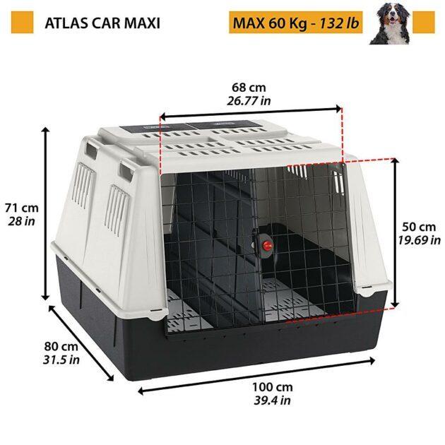 Atlas car maxi 100x80x71cm grå/svart