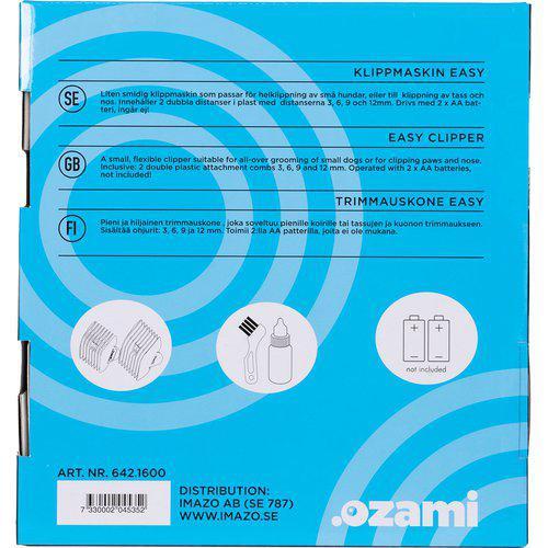 Klippemaskin Easy klipper batteri 3/6/9/12mm