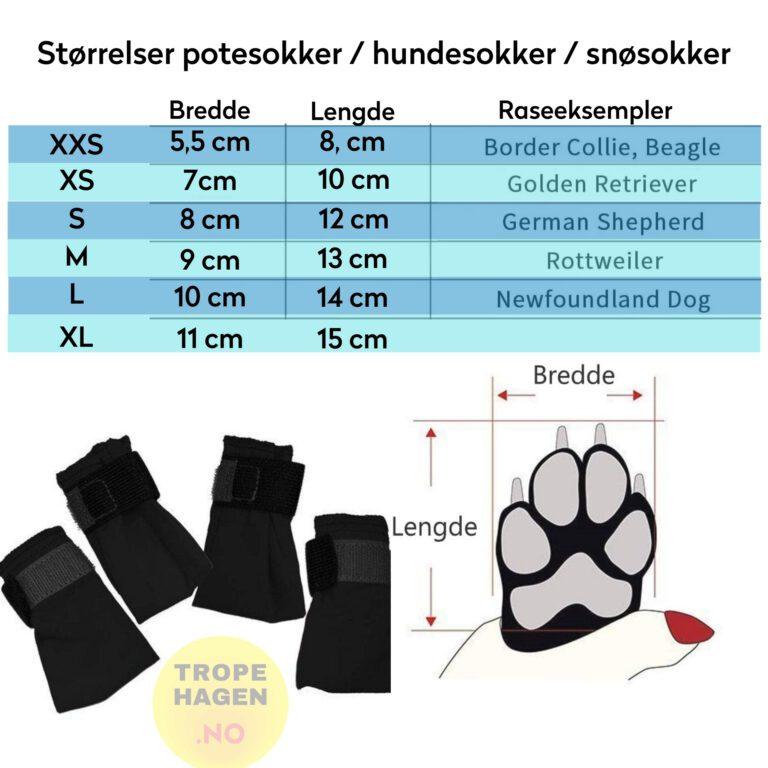 Potesokker / Hundesokker / Snøsokker 4 pack