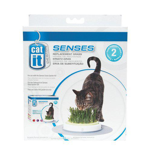 catit senses refill grass planter kattegress stasjon