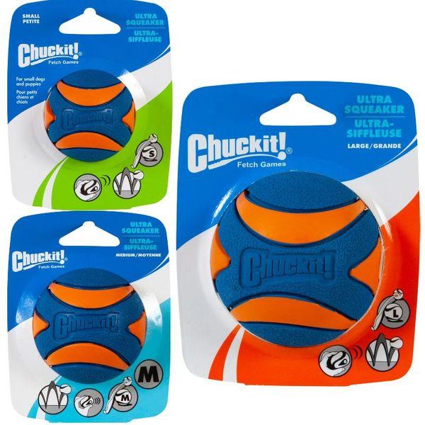 Chuckit! Ultra Squeaker Ball -Ball Med Lyd