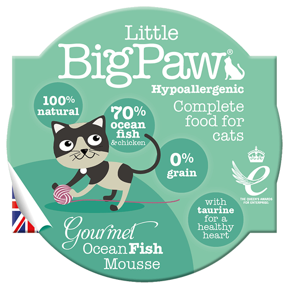 little big paw gourmet atlantic ocean fish mousse våtfôr