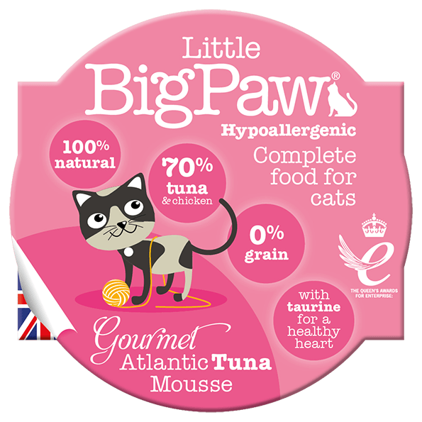 little big paw gourmet atlantic tuna mousse våtfôr