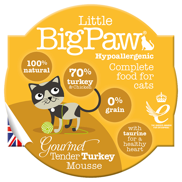 little big paw gourmet tender turkey mousse våtfôr