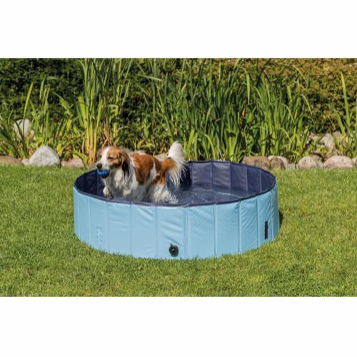 Sammenleggbart hundebasseng blå PVC