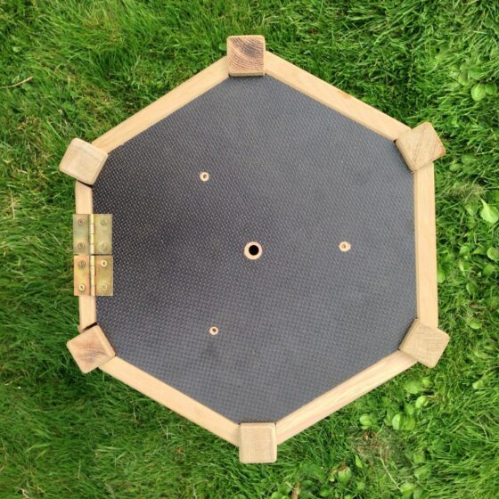 Hercules sekskantet forbrett med kobbertak, 50x36x40cm