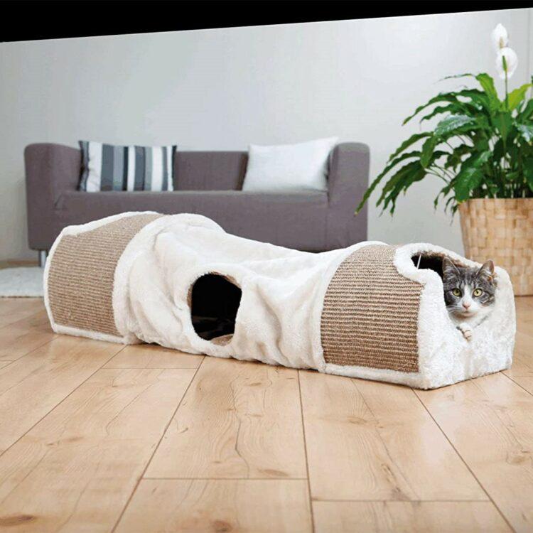 Kloretunnel-kosehule katt og hund 110 × 30 × 38 cm, sammenleggbar