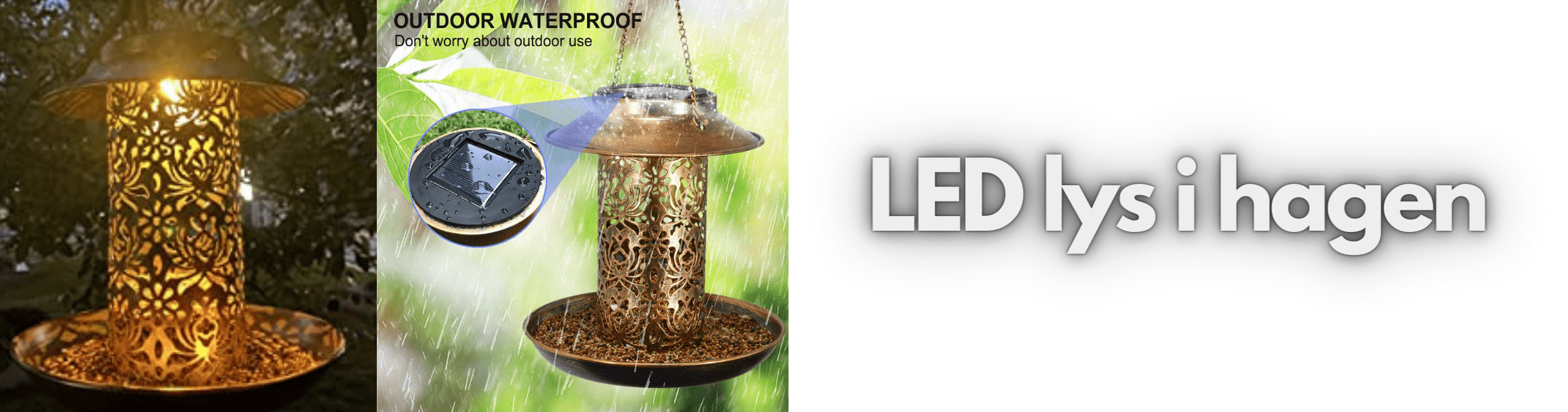 Tropehagen LED utefugllys